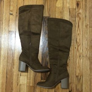 SODA Suede Knee High Boots